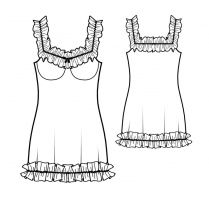 Lekala Sewing Patterns - WOMEN Lingerie / Undergarments Sewing Patterns Made to Measure and Royalty Free