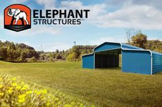 Affordable barn-it doesn't have to be cheap! Learn the benefits of an affordable barn from Elephant Barns, straight from the horse's mouth. Metal Carports, Metal Garages, Handyman Projects, Steel Barns, Carport Designs, Beautiful Farm, Metal Barn, Backyard Sheds