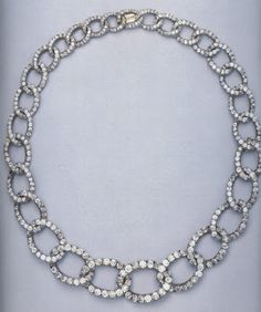 The diamond necklace once the property of the Grand Duchess Elisabeth, given to her niece, Princess William of Sweden, formerly the Grand Duchess Marie Pavlovna.