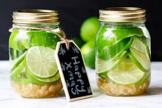 Ginger Lime Infused Vodka - an easy last-minute gift.