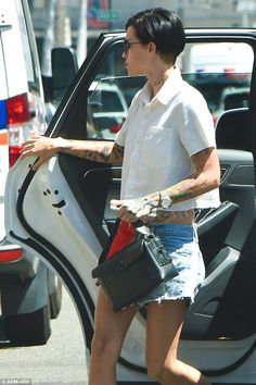 Out and about: Australian model and actress Ruby Rose was spotted in Beverly Hills on Friday