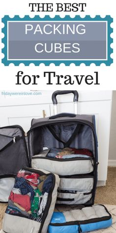 How to Use Packing Cubes: Our Favorite Family Travel Hack! If you take even one trip a year, packing cubes will be your best friend! Here's how to use packing cubes and why our frequent flyer family swears by them! Traveling With Baby, Travel With Kids, Family Travel, Traveling By Yourself, Family Trips, Group Travel, Family Vacations, Suitcase Packing, Packing Tips For Travel