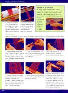 Manual de técnicas básicas Weaving Projects, Knit Mittens, Loom Weaving, Textiles, Knitting, Diy, Loom Patterns, Weaving Wall Hanging, Crafts