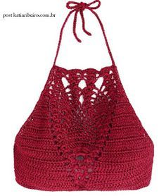 Katia Ribeiro Moda & Decoração Handmade: Cropped Crochê Encanto com Receita e Gráfico -