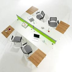 Vibrant desk screens add interest to your modern, white desking. Available in a range of colours so that you can reinforce your branding through your office space.