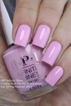 I have the brand new OPI Infinite Shine Fiji Collection for Spring/Summer 2017 to show you today! Opi Nail Colors, Pretty Nail Colors, Pretty Nails, Fabulous Nails, Perfect Nails, Gorgeous Nails, Manicure Y Pedicure, Pedicures, Nagel Gel