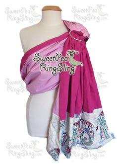 Elle Elephant tribal SweetPea ring sling sweet pea  baby wrap baby carrier