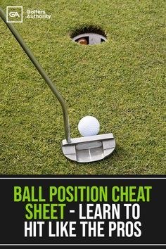 How to Have the Perfect Golf Ball Position for Every Club to help you take your golf game to the next level. Find the perfect golf push cart for your golfing game Golf Push Cart, Golf Chipping Tips, Golf Score, Golf Putting Tips, Golf Drivers, Golf Driver Tips, Golf Practice, Golf Videos, Golf Instruction