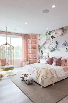 Home Decor Living Room Mr. Kate - Dream Butterfly Bedroom & Rainbow Playroom for Elle and Alaia.Home Decor Living Room Mr. Kate - Dream Butterfly Bedroom & Rainbow Playroom for Elle and Alaia Cute Bedroom Ideas, Room Ideas Bedroom, Girl Bedroom Designs, Teen Room Decor, Girl Bedroom Decorations, Bedroom Decor For Kids, Ideas For Bedrooms, Diy Bedroom, Baby Girl Bedroom Ideas