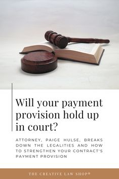 Understanding the legalities of your contracts payment provision. How much is your client required to pay up front? Is it non-refundable? It's important to understand the language used for it to hold up in court. Watch the Instagram Live with creative attorney, Paige Hulse, where she breaks it down. For more tips from a creative attorney and legal templates to protect your business, go to shopcreativelaw.com. Small Business Accounting, Business Education, Start Up Business, Business Planning, Business Tips, Blog Writing Tips, Business Plan Template, Wonder Women, Online Entrepreneur