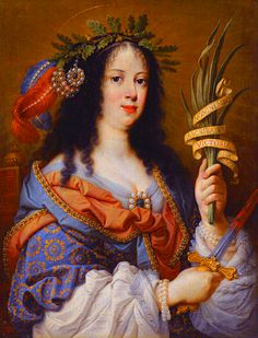 1637 (probably) Portrait of Vittoria della Rovere as Saint Vittoria by Mario Balassi (auctioned by Sotheby's) Louis Xiv, Web Gallery Of Art, Cultura General, Italian Painters, European Paintings, Historical Art, Old Master, Women In History, Ancient Art