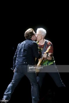 Bono (L) and Adam Clayton perform in concert with during day 2 of the Bonnaroo Music & Arts Festival on June 2017 in Manchester, Tennessee. Adam Clayton, U2, Art Festival, Funny Pictures, Funny Pics, Cool Bands, Light In The Dark, Rock And Roll, Cinema