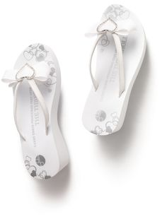 88b5613c3401e4 SALE  Girl Two Doors Down Bridal Bow Flip Flops  28.50  bridal shoes