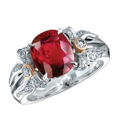 Fabergé Alix Ruby Ring #Fabergé #diamond #ruby #ring
