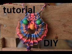 como hacer un collar de buho macrame Es.PandaHall.com - YouTube