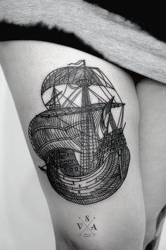 #ship #tattoo #sailor by Andrei Svetov