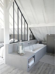 Delicate Small attic bedroom low sloping ceilings,Attic bathroom vent installation and Attic storage kingston. Attic Bedroom Small, Attic Bedroom Designs, Attic Design, Attic Rooms, Attic Spaces, Attic Master Suite, Attic House, Attic Apartment, Apartment Therapy