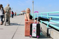 Anywhere UGO, arrive in style! #destination #vacation #travel #style #trip #ugobags #luggage #manhattanbeach #California #waves #pier #awesome #beach #flying #tourism #relaxing #takeoff #new #unique www.ugobags.com