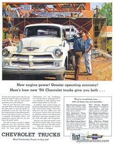 vintage Chevrolet truck ad