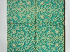 Handmade Tile with Islamic Design, via Etsy. Handmade Tiles, Handmade Ceramic, House Tiles, Islamic Art, Sacred Geometry, Ceramic Pottery, Color Inspiration, Stoneware, Wall Decor
