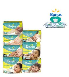Walmart: Buy Pampers Swaddlers get 1 72 sheets wipes for free