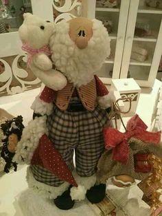 Christmas Sewing, Christmas Fabric, Santa Christmas, Christmas Crafts, Operation Christmas Child, Santa Crafts, Santa Doll, 242, Beaded Christmas Ornaments