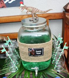 Boy's Dinosaur Birthday Party Drink Ideas