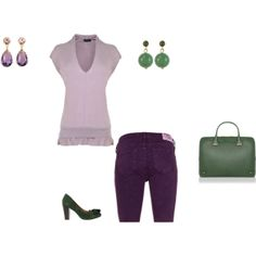 """Soft Summer Light - purple/green pepper"" by adriana-cizikova on Polyvore"