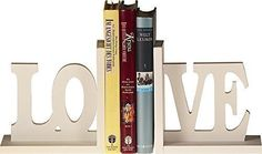 Soporte para libros de madera estilo vintage shabby con palabras Home/Love (hogar, amor) - Love: Amazon.es: Hogar