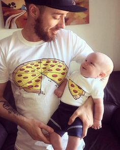 Pizza Slice Dad Son Matching Shirts Daddy Daughter Baby Family Outfits Funny 1 Slice Missing Awesome New Family Gift Pizza Shirt Best seller Pizza Slice Papa Sohn passende Hemden Papa Tochter Baby Familie Father And Son Pizza, Daddy And Son, Dad Son, Daddy Daughter, Mother Son, Father And Baby, Papa Shirts, Fathers Day Shirts, Dad To Be Shirts