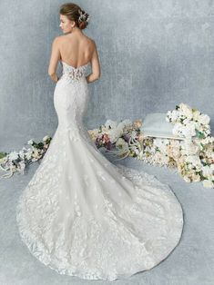 Colour Options: Champagne/Ivory Silver (Pictured) - Ivory/Ivory Silver - White/White Silver Embroidered Lace with Floral Pattern Perfect Wedding Dress, Wedding Dress Styles, Designer Wedding Dresses, Wedding Attire, Bridal Dresses, Wedding Gowns, Bridesmaid Dresses, Dream Wedding, Dress Silhouette