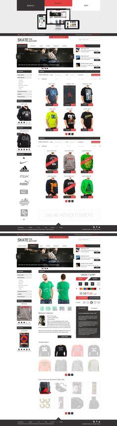 Skateshop - Layout by ~DizzePL on deviantART  #webdesign