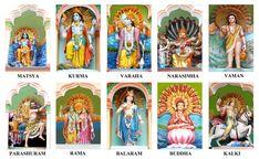 Dashavatar - Ten Incarnations of Lord Vishnu (Photographic Print - Unframed)