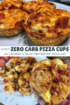 Delicious pizza flavor without the carbs. These pizza cups have grams of car… Delicious pizza flavor without the carbs. These pizza cups have grams of carbs and 8 grams of protein per pizza cup with only 61 calories! Low Calorie Dinners, No Calorie Foods, Low Calorie Recipes, Keto Recipes, Zero Carb Meals, Low Fat Dinner Recipes, Low Calorie Lunches, Lower Carb Meals, Healthy Recipes