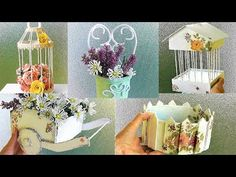 Home Crafts, Diy And Crafts, Popsicle Stick Art, Crepe Paper Crafts, Wedding Aisle Outdoor, Tube Carton, Recycled House, Making Baskets, Japan Crafts