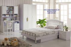 JualSet Kamar Tidur Anak Minimalis Exclusive White Aurelia Model Set…