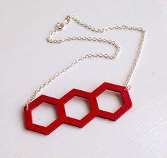 DIY Hexagon Necklace -