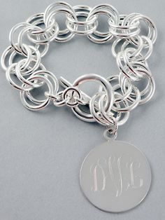 silver chunky and monogram... love