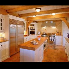 Butcher block kitchen island- really thinking this is the way to go