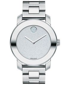 Movado Women's Swiss Bold Stainless Steel Bracelet Watch 36mm 3600334 - Watches - Jewelry & Watches - Macy's
