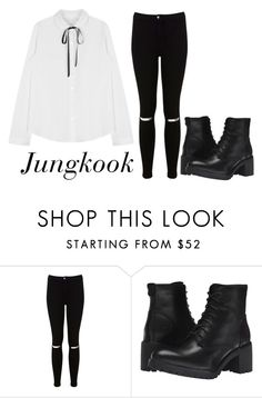 """""""Jungkook in V Live Countdown"""" by sunshine-hippie-girl ❤ liked on Polyvore featuring Miss Selfridge and Timberland"""