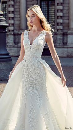 eddy k milano bridal 2017 sleeveless vneck embellished bodice