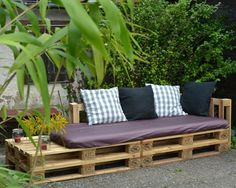 Palettenbank On Pinterest Industrial Bench Repurposed And Sofas