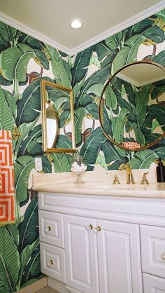 Glam Banana Leaf Wallpaper