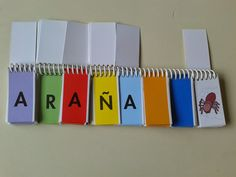 LA LECTOESCRITURA EL libro móvil de letras para formar palabras