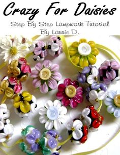 Crazy For Daisies Lampwork Tutorial SALE by everafterartistry, $7.00