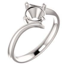 14kt White  6.5mm Round Solitaire Engagement Ring Mounting... #gold #diamond #bridal #engagement #wedding #ring #fashion #jewelry #jewelryring #diamondring #engagementring #fashionring #lovely #Richmondgoldanddiamonds