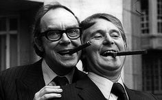 Television comedy duo Morecambe (left) and Wise at the Dorchester Hotel: Morecambe and Wise almost split up before they got famous