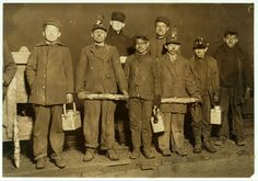 One of Lewis Hines' photographs for the National Child Labor Committee. Children working in a Pennsylvania coal mine, 1910 0r 1911.