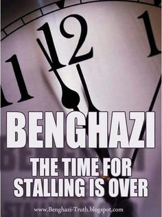 Time's up- After 8 months we still haven't heard WHERE THE PRESIDENT WAS and WHAT HE WAS DOING.- Why haven't we heard from even ONE of the survivors of the Terrorist Attack on the Benghazi Consulate. We got THE STANDARD we will look into it. I  want to know why 4 Americans were killed. Why the Consulate wasn't prepared for an attack after 17-18 requests for more military and a safer Consulate from Amb. Stevens & Libya told us 2 days earlier to watch out for an attack. THEY DIDN'T HAVE TO…